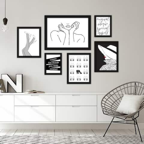 Fashion Line Art Framed Gallery Wall Set