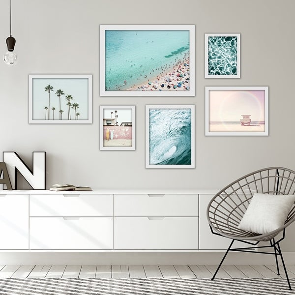 Beach Photography Framed Gallery Wall Set. Opens flyout.