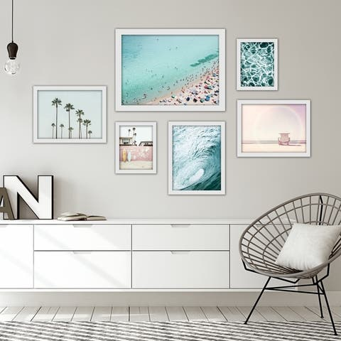 Beach Photography Framed Gallery Wall Set