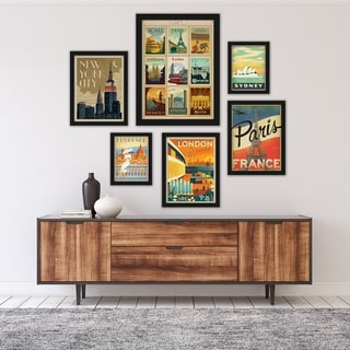 Link to World Cities by Anderson Design Group Framed Art Set Similar Items in Art Prints