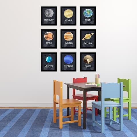Solar System Planets Framed Art Set