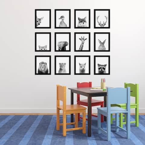 Peek-a-boo Animals Framed Art Set