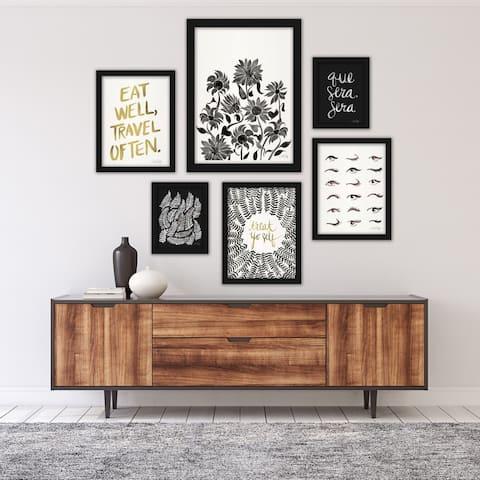 Black & White Modern Framed Art Set