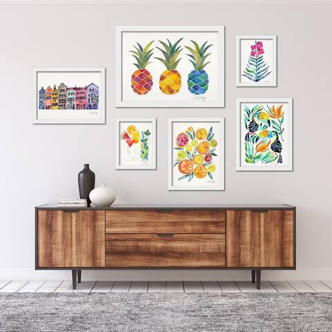 Colorful Tropical Framed Art Set