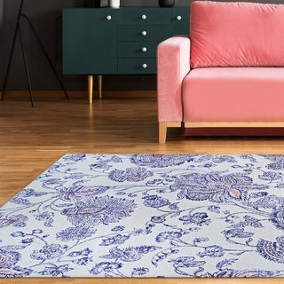 Toulouse Wildflower Blue Sky-Multicolor Area Rug
