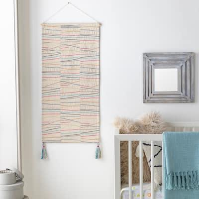 "Raksa Cotton 18"" x 36"" inch Modern Tapestry - 18"" x 36"""
