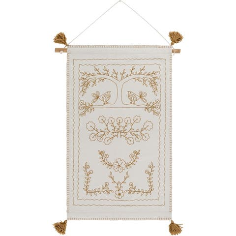 """Helene Wool and Nylon 24"""" x 36"""" inch Transitional Tapestry - 24"""" x 36"""""""