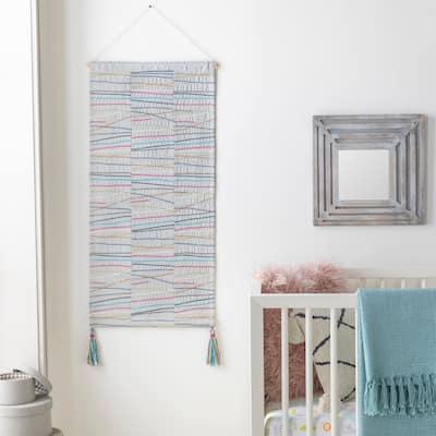 "Gauri Cotton 18"" x 36"" inch Modern Tapestry - 18"" x 36"""