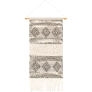 """Valerie Hand Woven Wool and Cotton 22"""" x 44"""" inch Bohemian/Global Tapestry - 22"""" x 44"""""""