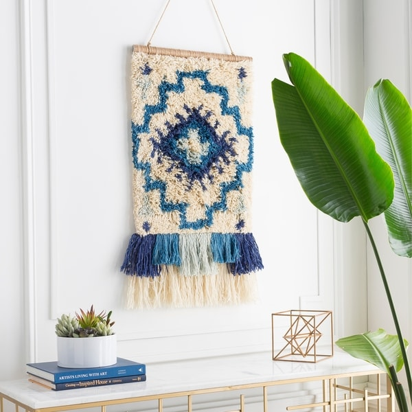 "Foresa Hand Knotted Wool 17"" x 23"" inch Bohemian/Global Tapestry - 17"" x 23"""