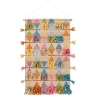"Riette Hand Woven Wool 24"" x 43"" inch Bohemian/Global Tapestry - 24"" x 43"""