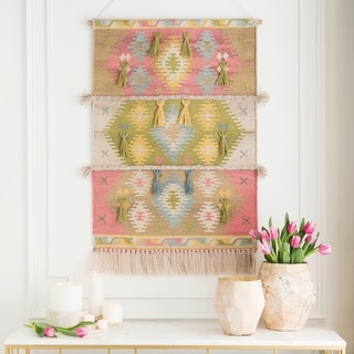 """Lucea Hand Woven Wool 24"""" x 36"""" inch Bohemian/Global Tapestry - 24"""" x 36"""""""