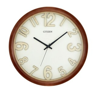 "CITIZEN Gallery 16"" Walnut Finish Wall Clock"