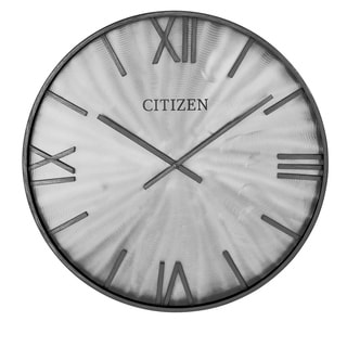 "CITIZEN Gallery 24"" Gray Metal Frame Wall Clock"