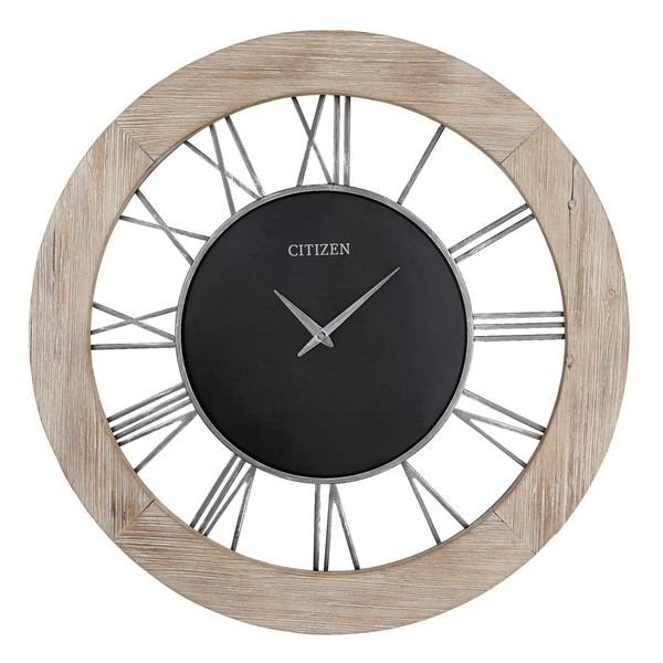 """CITIZEN Gallery 32"""" Open Face 3D numbering Wall Clock"""