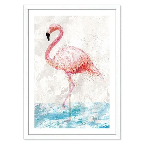 Flamingo Splash - 31'' x 43''