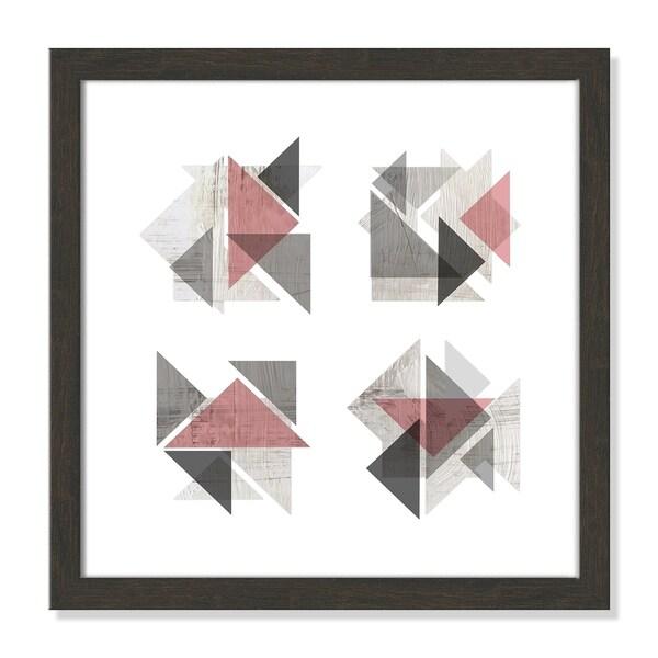 Boho Geometrics Blush Grey