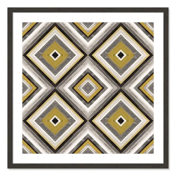 Organic Yellow Wood Pattern - 32.5'' x 32.5''