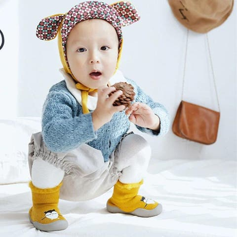 Winter shoes baby warm booties newborn baby shoes toddler shoe knitted slippers