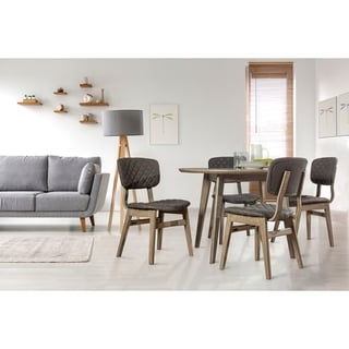 Alden Bay 5pc Round Dining Table with 4 Wooden Side Chairs