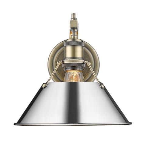 Orwell 1-light Conical Metallic Wall Sconce