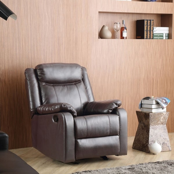 Copper Grove Zug Faux Leather Rocking Recliner. Opens flyout.