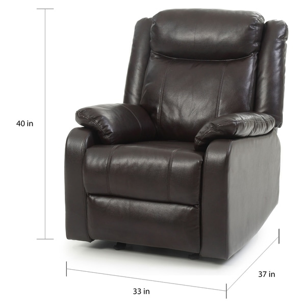 Copper Grove Zug Faux Leather Rocking Recliner