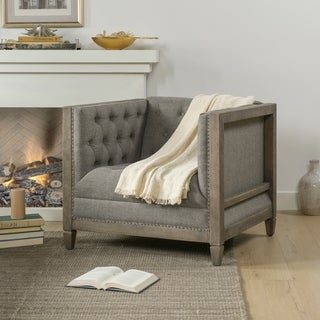 "Link to The Gray Barn Fairview Farmhouse Oak Tuxedo Armchair - 34""L X 32.5""W X 29.5""H Similar Items in Living Room Chairs"