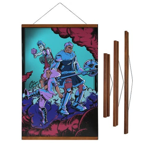 "Magnetic Wooden Poster Hanger Frame, 12"", 18"" or 24"" Wide"