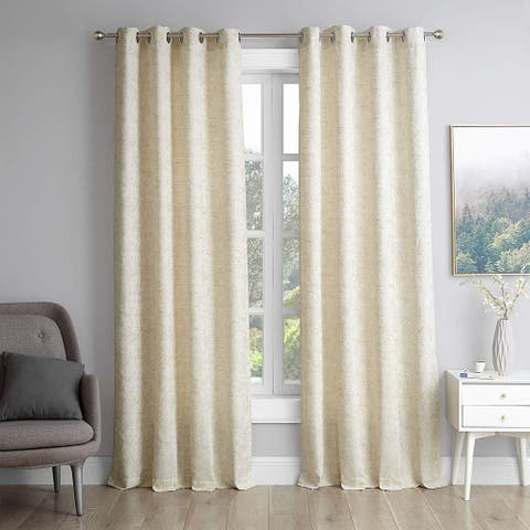 Gold Coast - Jacquard Curtain Panel Set with Grommets