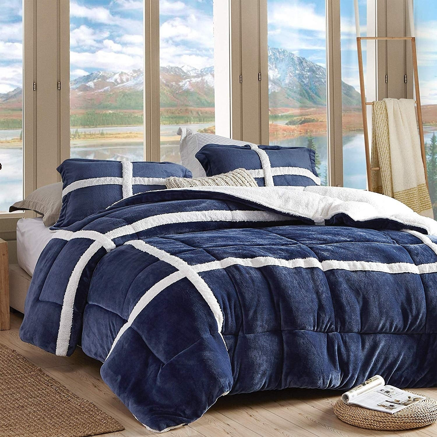 Coma Inducer Oversized Comforter Wilderness Navy On Sale Overstock 29804794