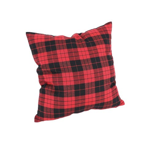 Holiday Plaid Pillow 14 by 14-Inch