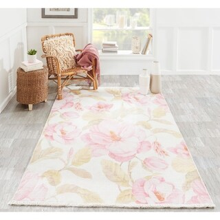 Porch & Den Somera Large Floral Polyester/Cotton Area Rug