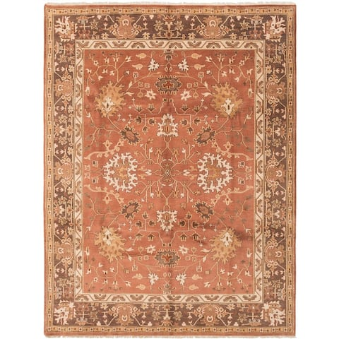Hand-knotted Royal Mahal Copper Wool Rug ECARPETGALLERY - 8'6 x 11'6