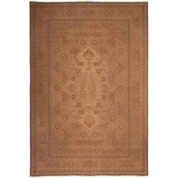 Flat-weave Dynasty Light Brown Wool Tapestry Kilim ECARPETGALLERY - 11'6 x 17'6