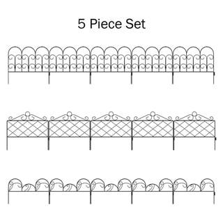 Set of 5 Metal Garden Fencing by Pure Garden