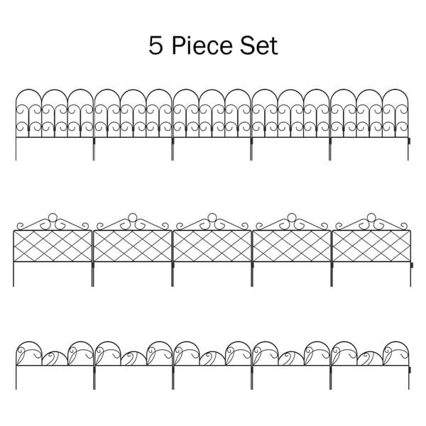 Set of 5 Metal Garden Fencing by Pure Garden. Opens flyout.