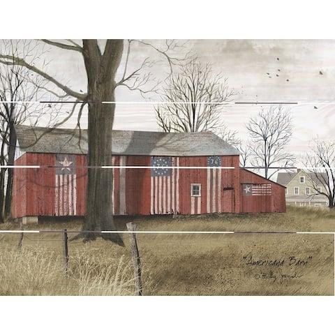 Wood Pallet Art - Americana Barn