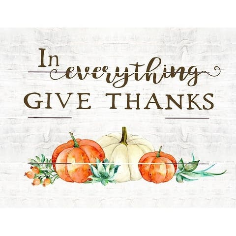Wood Pallet Art - In Everything Give Thanks - White