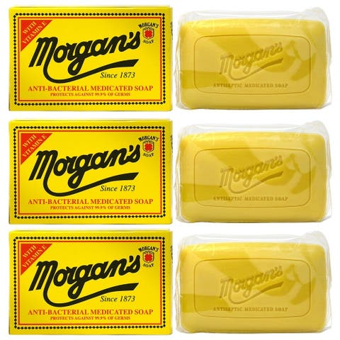 Morgans Anti-Bacterial Medicated Soap with Vitamin E 80g/2.8oz (Pack of 3)