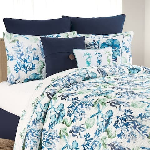 Bluewater Bay Coastal Cotton Quilt Set