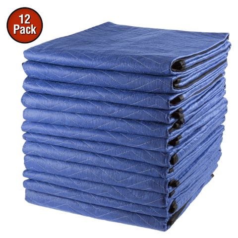 Set of 12 Moving Blanket by Stalwart - 81 x 72