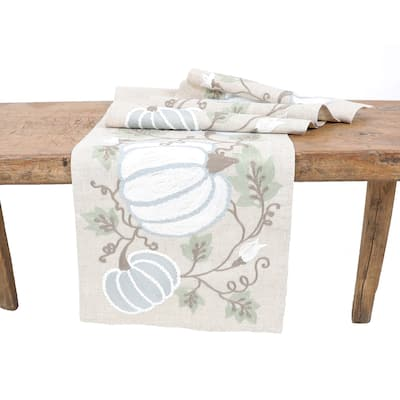 """Harvest Pumpkins and Vines Fall Table Runner 16""""x36"""""""