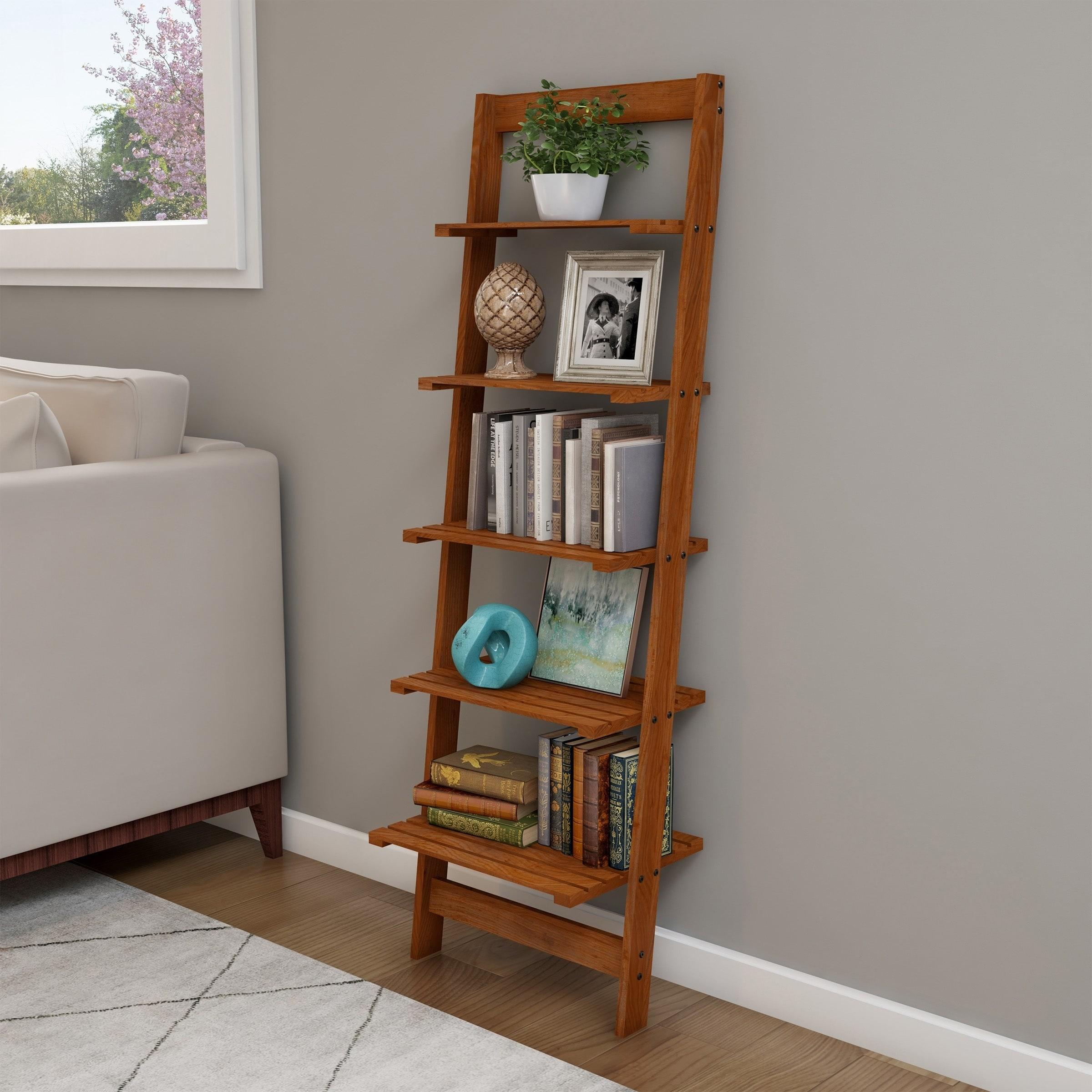 5 Tier Ladder Bookshelf By Lavish Home On Sale Overstock 29806786