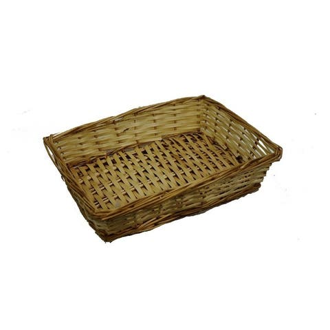 "13"" Natural willow small rectangle tray ABN5E102-NTRL"