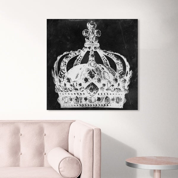 Oliver Gal 'Crown Me' Fantasy and Sci-Fi Wall Art Canvas Print - Black, White