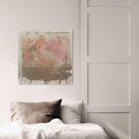Oliver Gal 'Cerise' Floral and Botanical Wall Art Canvas Print - Orange, Pink