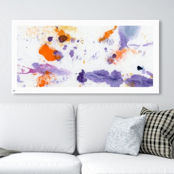 Oliver Gal '20662 Palette de Color' Abstract Wall Art Canvas Print - Purple, Orange