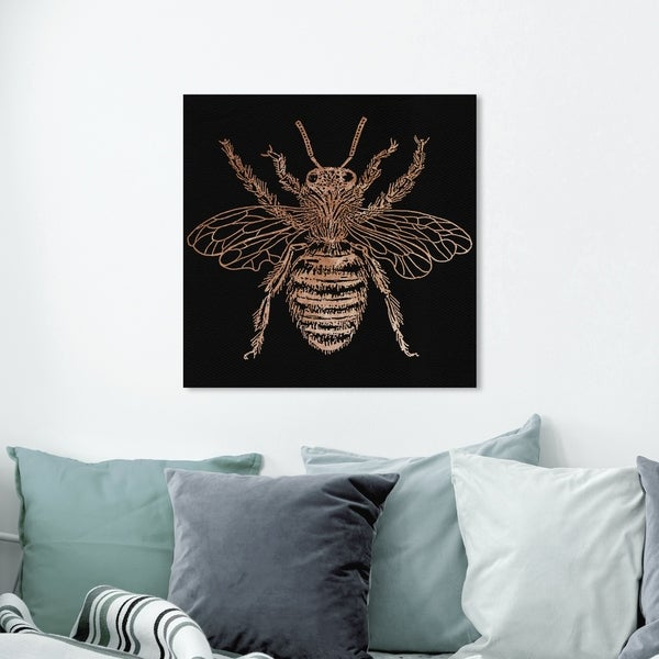 Oliver Gal 'Royal Bumblebee' Animals Wall Art Canvas Print - Gold, White