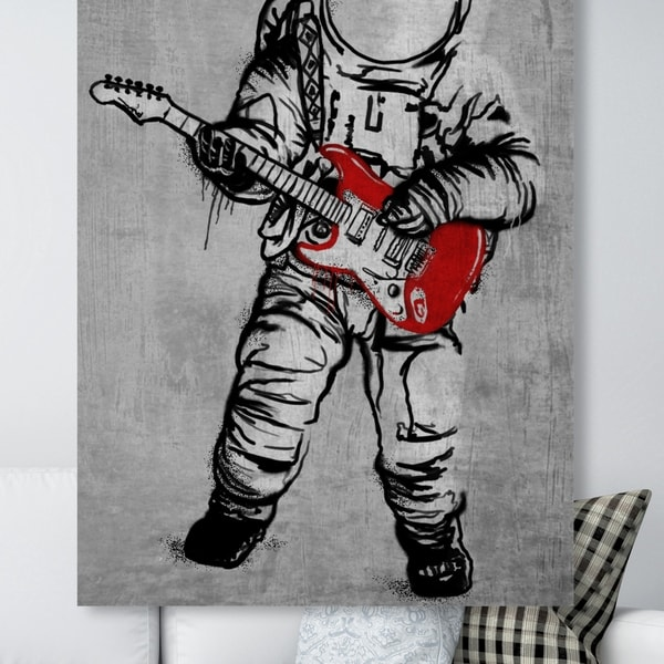 Oliver Gal 'Moontunes' Astronomy and Space Wall Art Canvas Print - Black, White